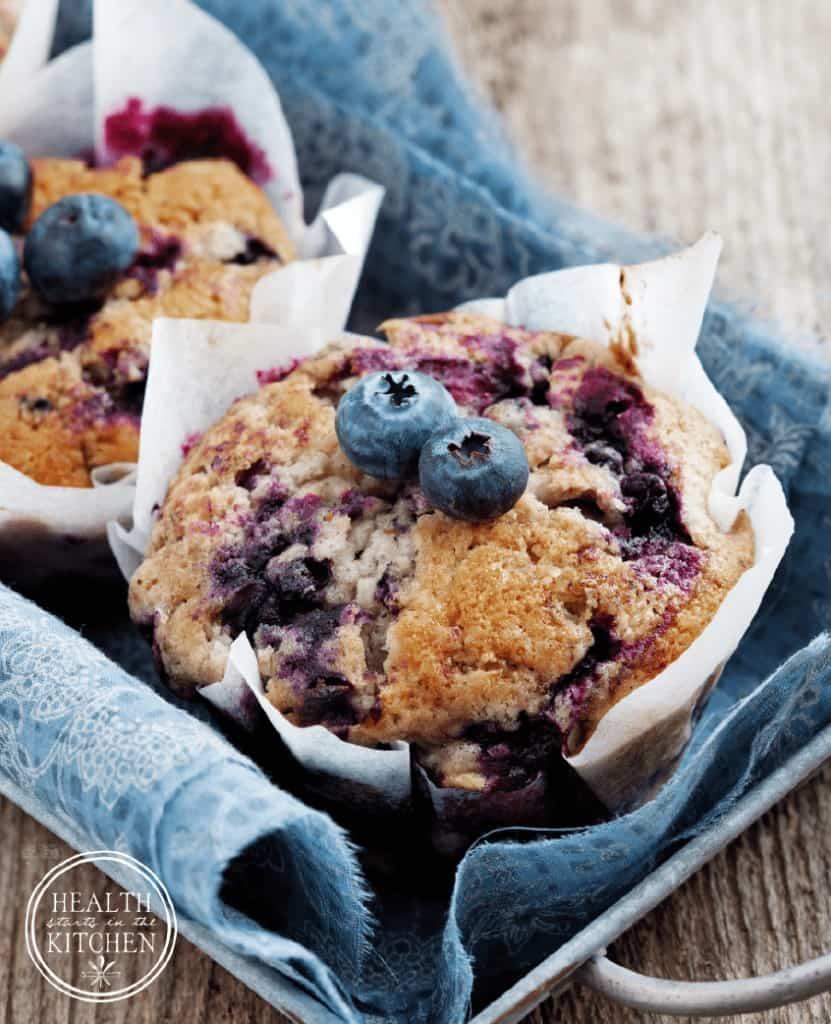Whole Wheat Blueberry Muffins {Azure Standard}