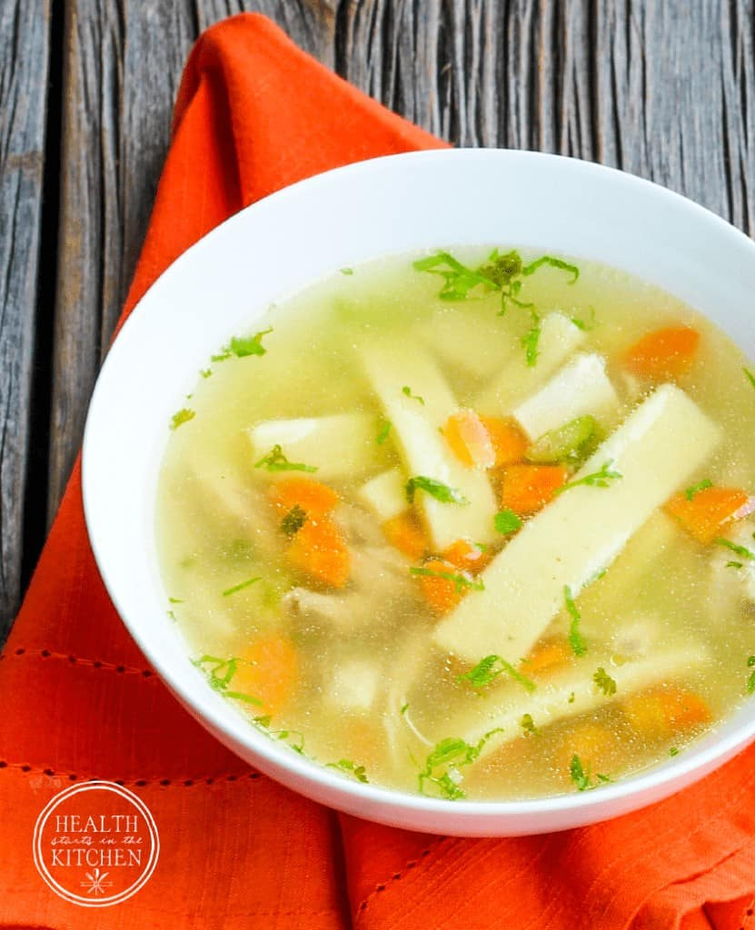 Paleo Homestyle Chicken Noodle Soup