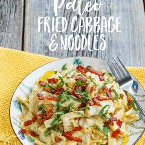 Paleo Fried Cabbage and Noodles {Gluten-Free & Grain-Free}