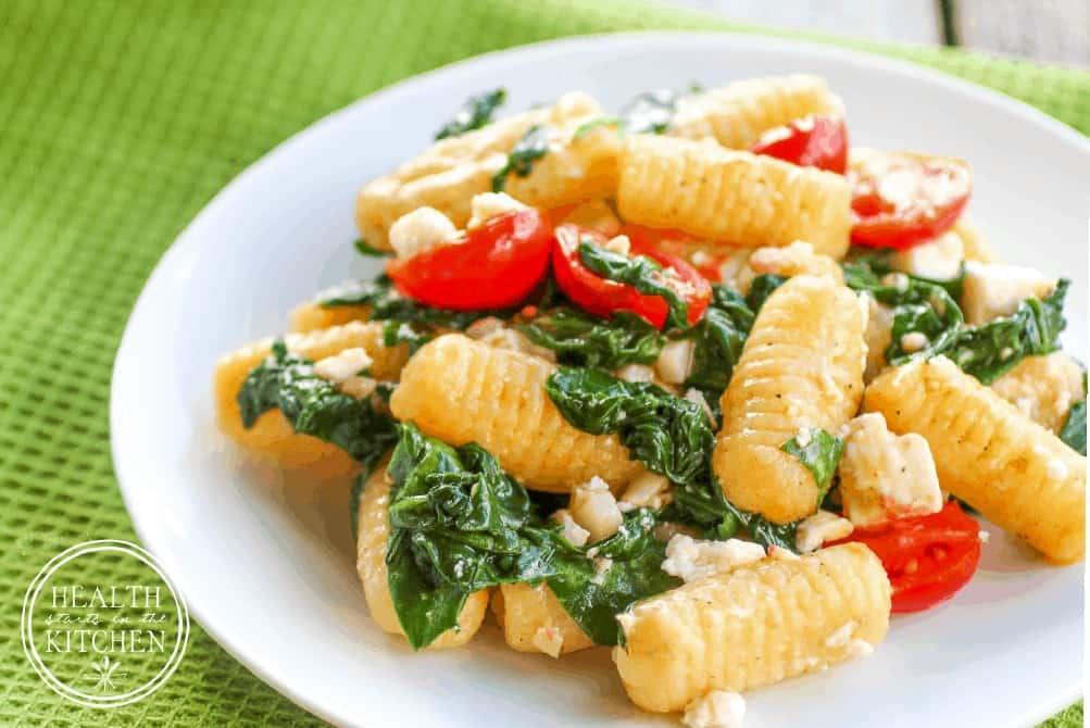 Ricotta Gnocchi with Spinach, Tomatoes and Feta {Gluten-Free, Grain-Free & Primal}