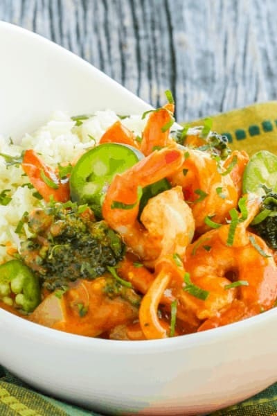 Thai Red Curry Shrimp {Paleo, Gluten-Free & Low-Carb}
