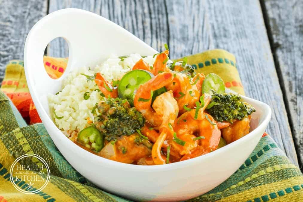 Thai Red Curry Shrimp {Paleo, Gluten-Free & Low-Carb}