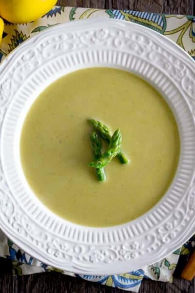 Creamy Asparagus Soup {Whole 30 & Paleo Friendly}