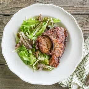 Oven Baked Adobo Pork Chops {Paleo, Low-Carb & Keto}