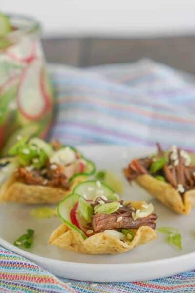 Korean BBQ Short Rib Tacos {Pressure Cooker & Slow Cooker}