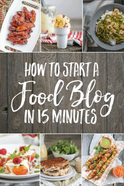 How to Start a Food Blog in 15 Minutes