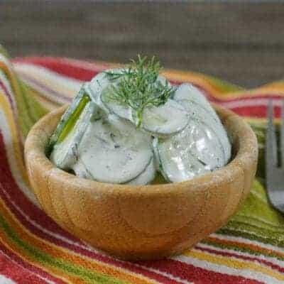 Low-Carb Creamy Cucumber Salad