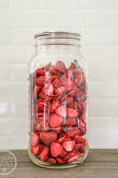 far of freeze dried strawberries