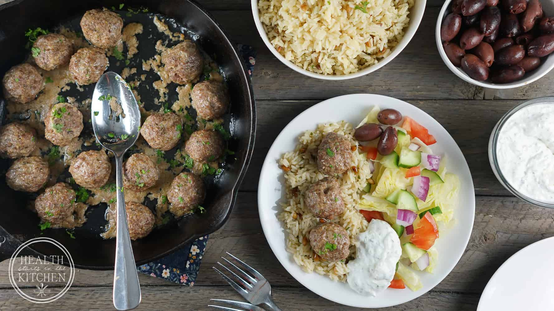 Gyro Lamb Meatballs {Paleo, Low-Carb & Whole 30}