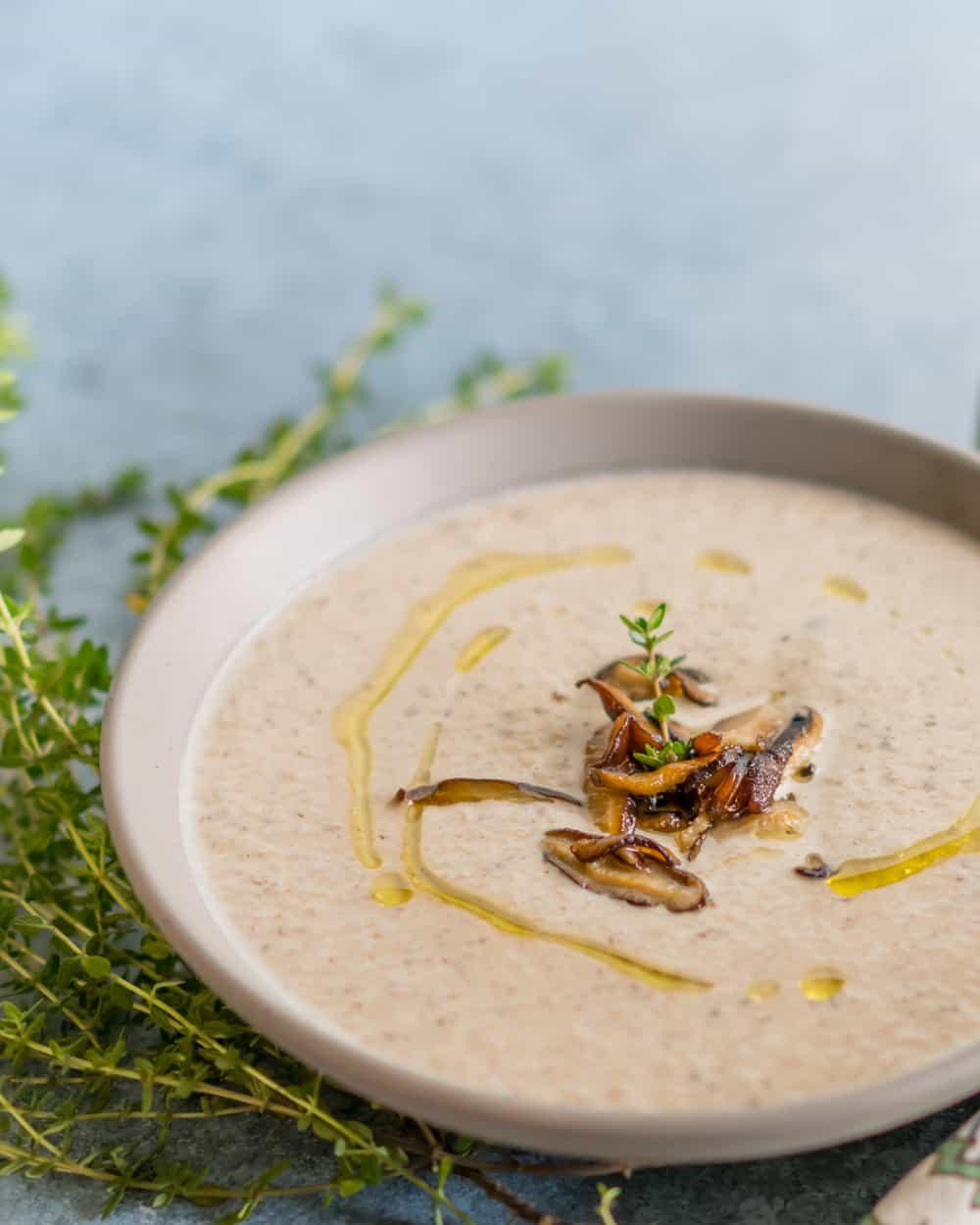 Pressure Cooker Creamy Shiitake Mushroom Soup