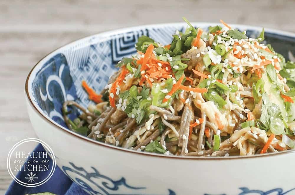 Sesame Chicken Noodle Bowl {Gluten Free}