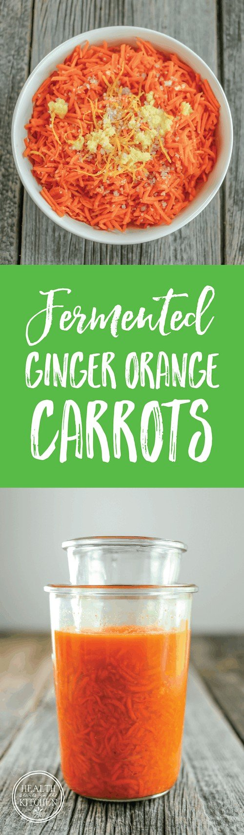 Fermented Ginger Orange Carrots