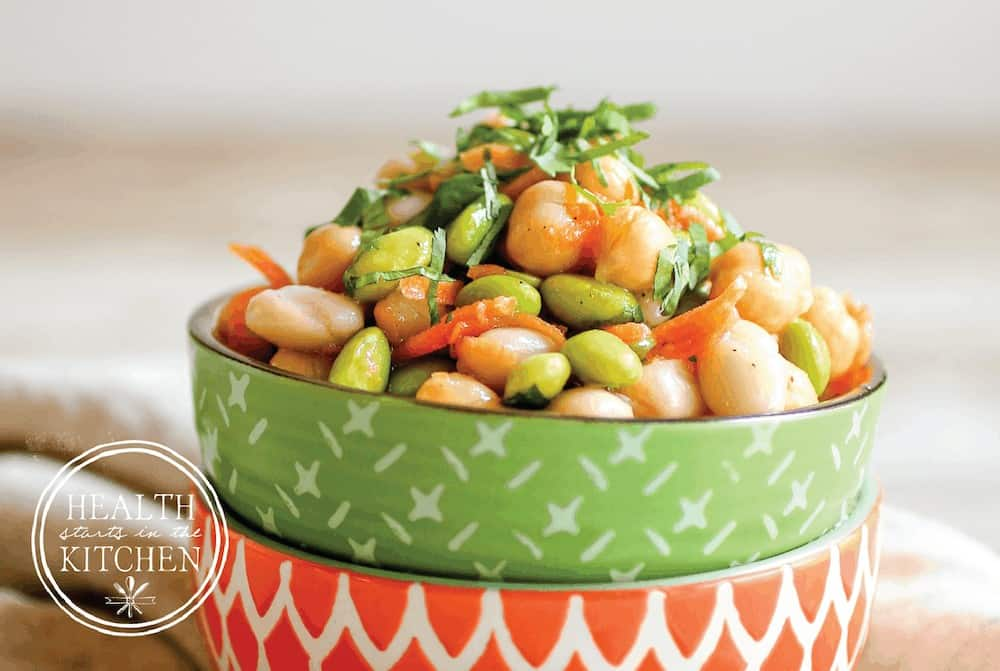 Sweet and Spicy Asian Three Bean Salad