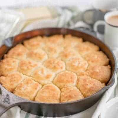 Southern Cast Iron Butter Drop Biscuits {Gluten-Free}