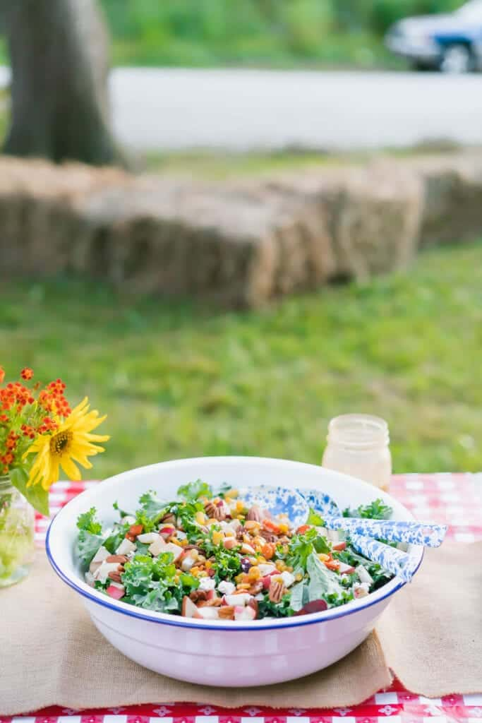 Autumn Harvest Salad with Maple Dijon Dressing