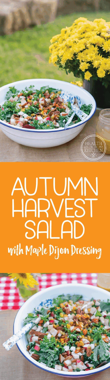 Autumn Harvest Salad with Maple Dijon Dressing