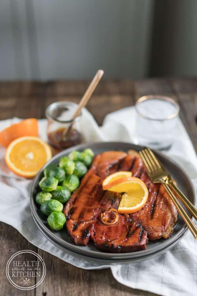 Grilled Ham Steak with Maple Orange Glaze (aka Ham-Awesome)