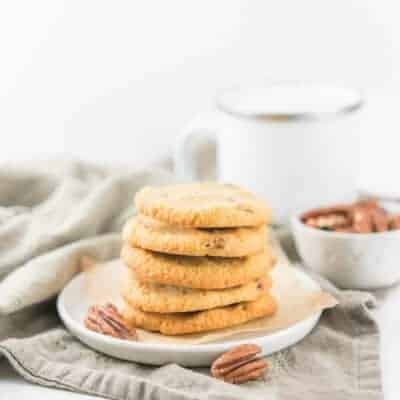 Salted Butter Pecan Cookies {Low-Carb, Keto & Grain/Gluten-Free}