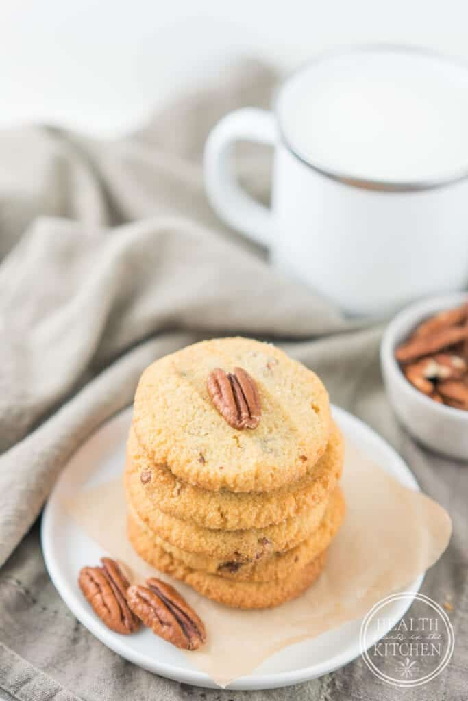 Low-Carb Keto Salted Butter Pecan Cookies {Grain-Free & Gluten-Free}