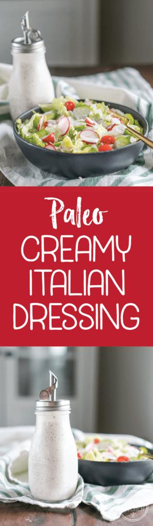 Creamy Italian Dressing {Paleo, Keto & Low-Carb}