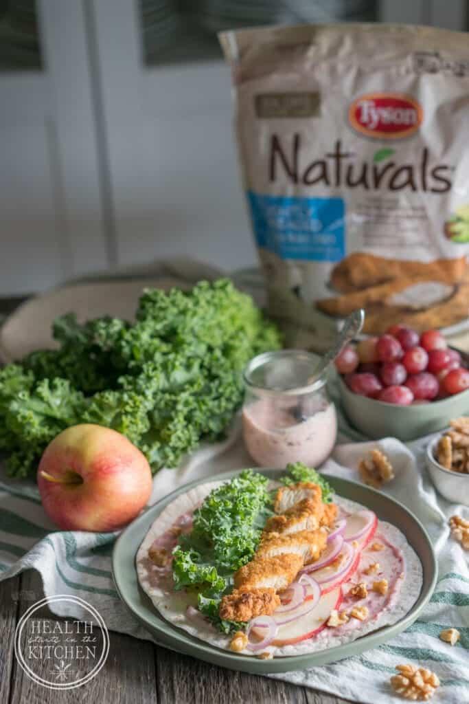 Waldorf Chicken & Kale Wraps