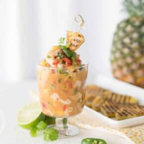 Grilled Pineapple Shrimp Ceviche