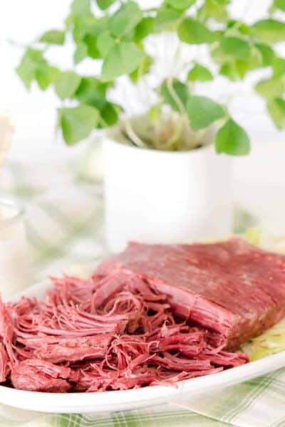 Low Carb Keto Pressure Cooker Corned Beef Brisket