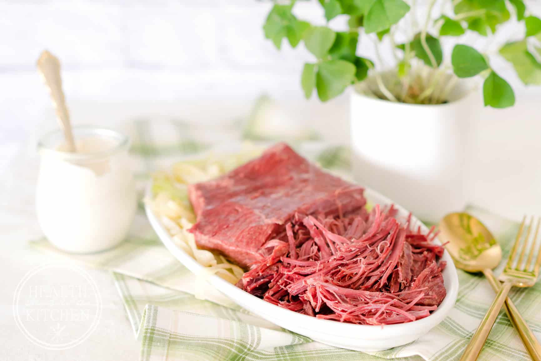 Low Carb Keto Pressure Cooker Corned Beef Brisket