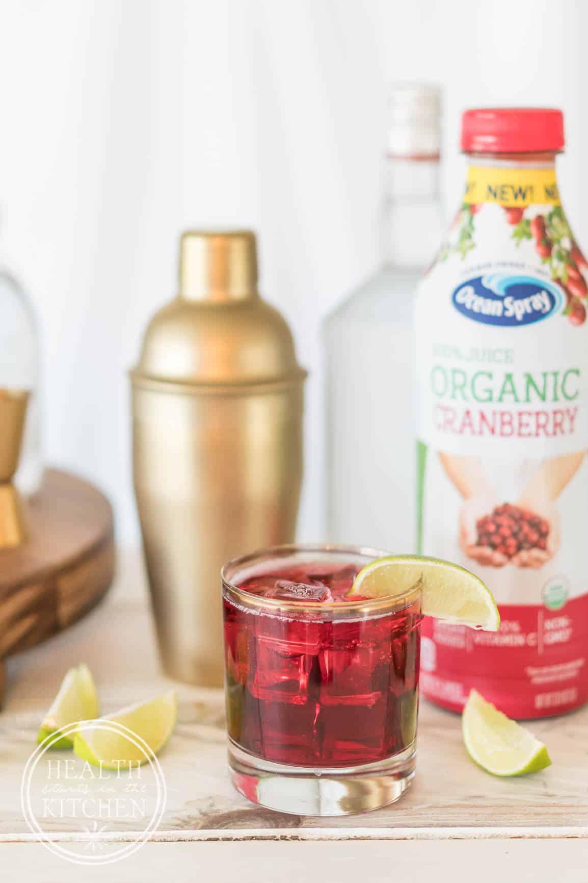 Healthier Happy Hour Sparkling Cranberry Cocktail