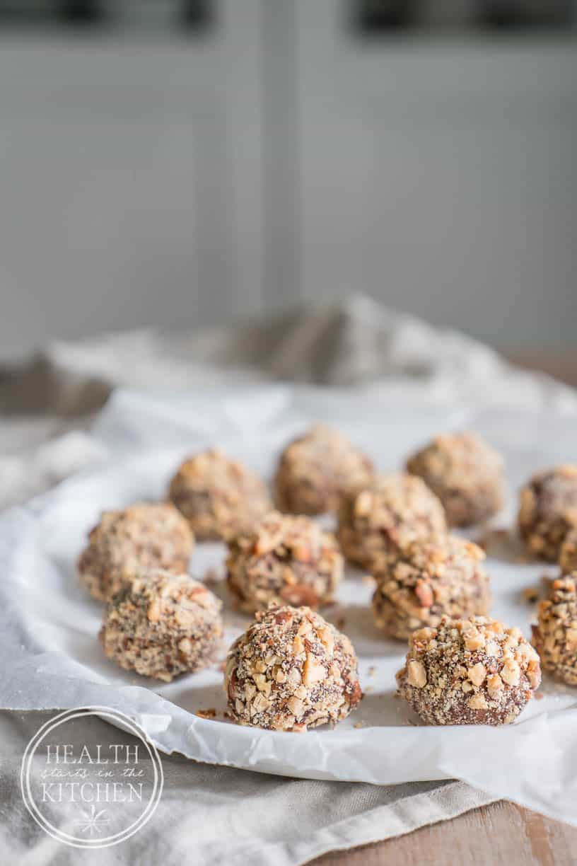 Keto Salted Almond Bourbon Truffle Fat Bombs