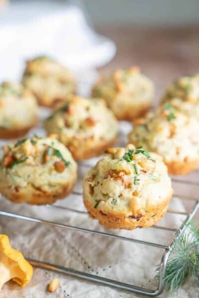 Chanterelle Herb Biscuits with Pine Nuts