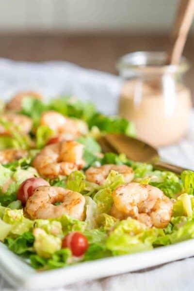 Keto Bang Bang Shrimp Salad