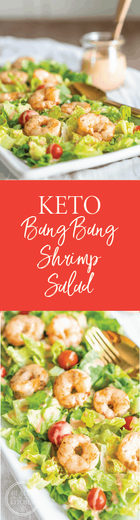 Keto Bang Bang Shrimp Salad