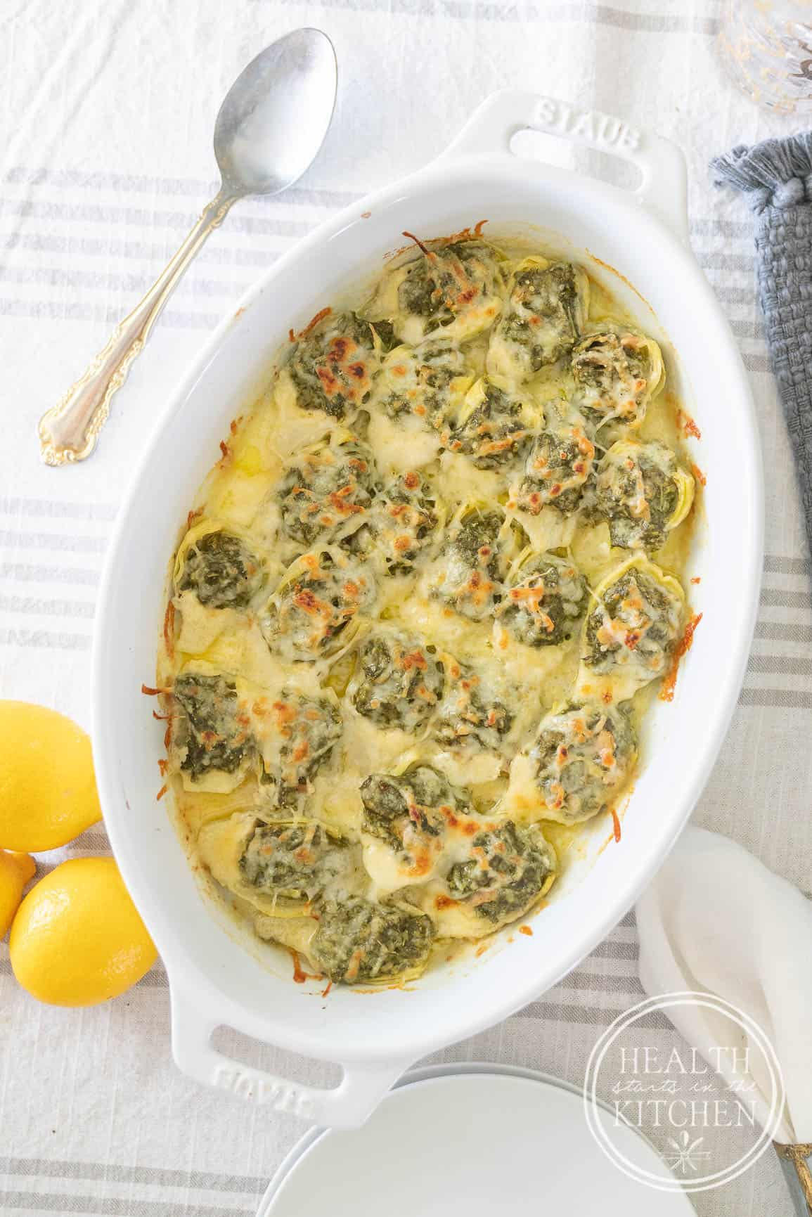 Keto Spinach Clam Stuffed Artichoke Hearts