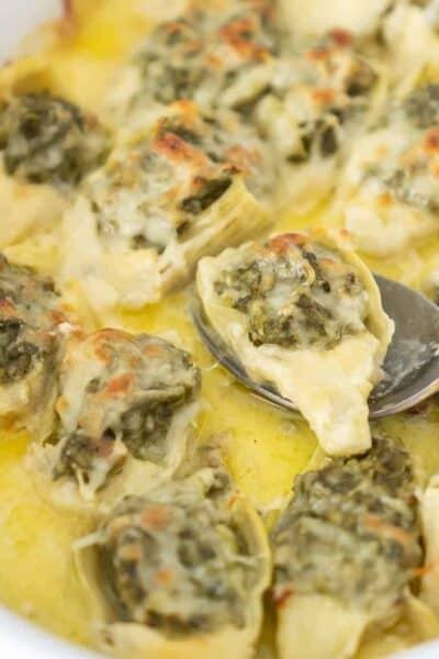 Keto Spinach Clam Stuffed Artichoke Hearts