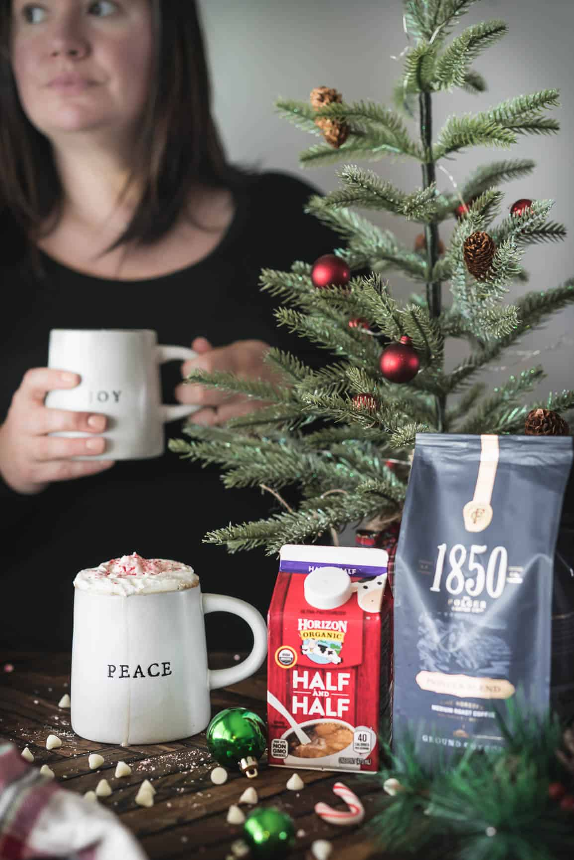 White Chocolate Peppermint Pour Over Coffee