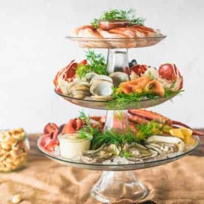 The Ultimate Holiday Chilled Seafood Tower DIY