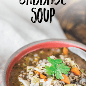 Keto Low-Carb Beef Stuffed Cabbage Soup