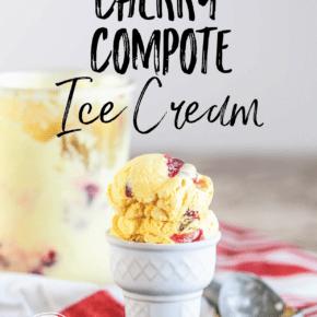Crème Fraîche Cherry Compote Ice Cream {Real Food & Gluten Free}