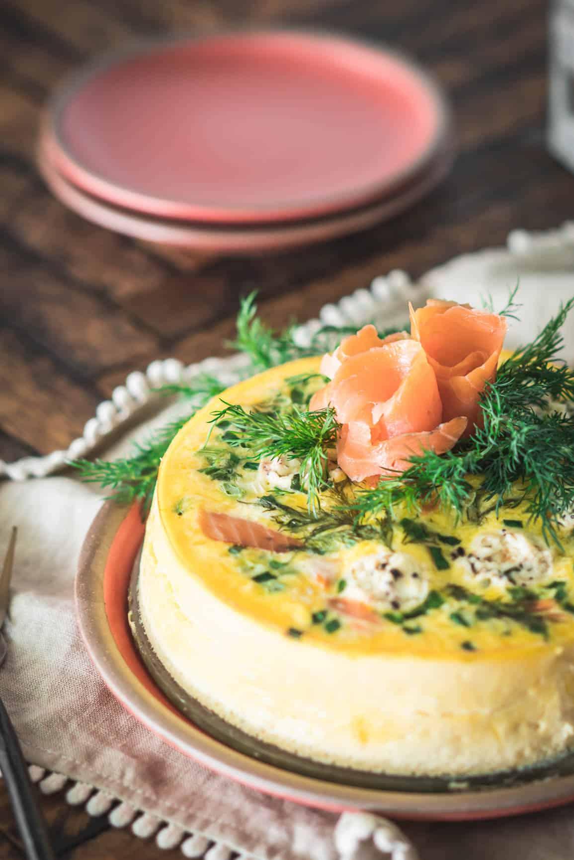 Pressure Cooker Smoked Salmon Frittata {Keto, Low-Carb & Gluten-Free}