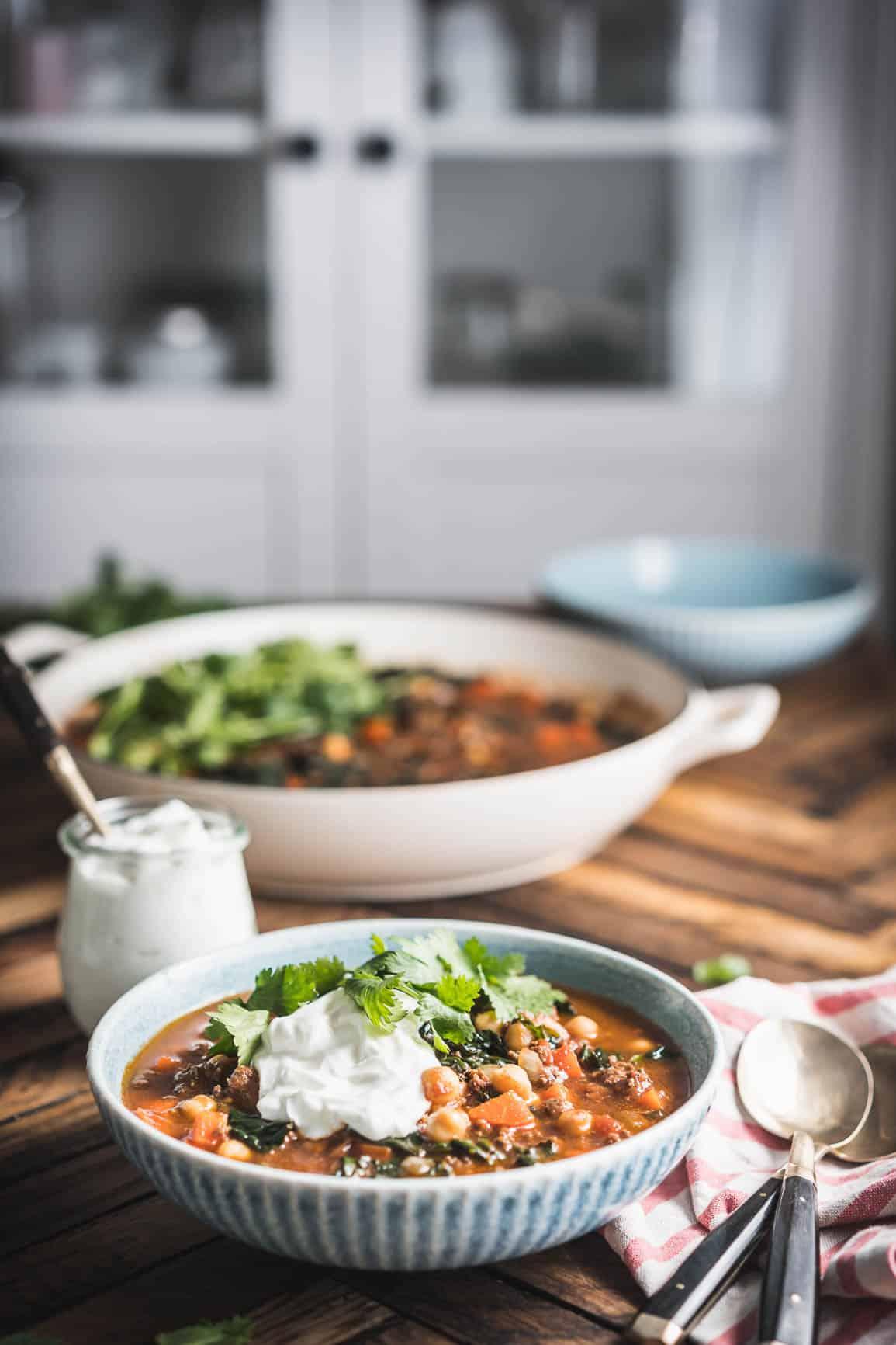 Spicy Lamb Chickpea Shawarma Stew {Gluten-Free}