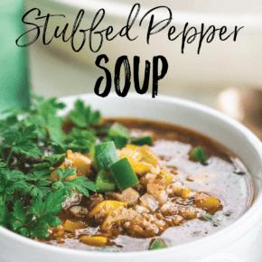 Easy Stuffed Pepper Soup {Keto, Paleo & Low-Carb}