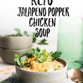 {10 Minute} Easy Keto Jalapeño Popper Chicken Soup