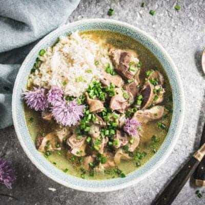 Pressure Cooker Chicken Gizzards and Broth