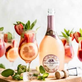 The Best Cocktail of Summer; Sparkling Strawberry Rosé Wine Sangria