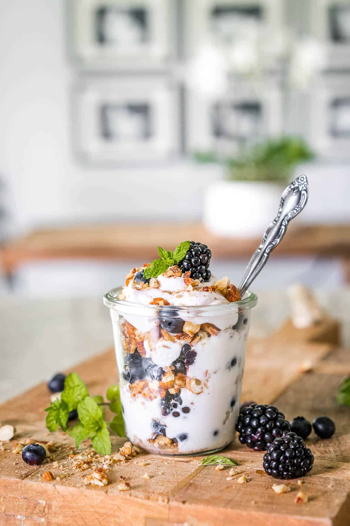 Keto Low Carb Breakfast Yogurt Parfait Yogurt Parfait