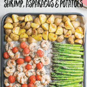 Healthy Sheet Pan Shrimp Asparagus Potato Dinner Recipe