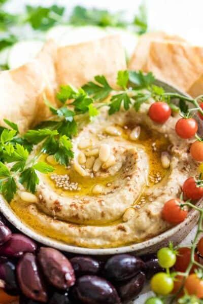 Roasted Zucchini and Eggplant Baba Ganoush Dip Recipe {Low-Carb & Paleo}