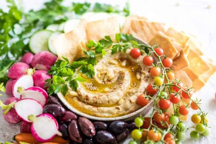 Roasted Zucchini and Eggplant Baba Ganoush Dip Recipe {Low-Carb & Paleo}