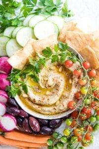 Roasted Zucchini and Eggplant Baba Ganoush Dip Recipe